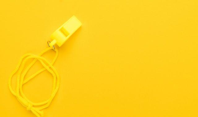 Plastic Yellow Whistle