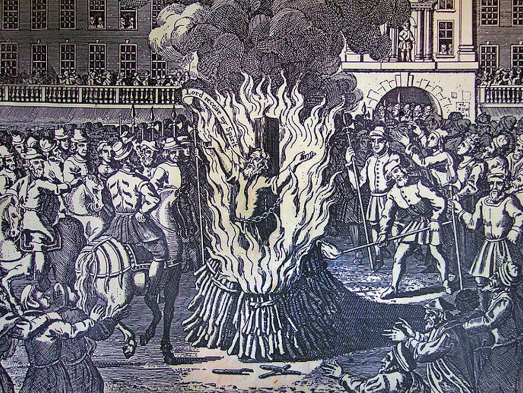 Bartholomew Legate Burned at the Stake