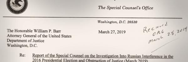 March 27 2019 Mueller letter