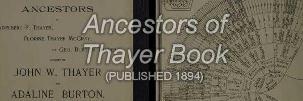 Thayles Ancestor Book-header